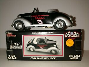 Dale Earnhardt 1937 Chevrolet Convertible Limited Edition 1/25 NASCAR Bank