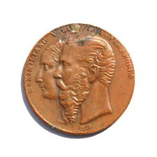 1866-1867 Mexico Maximiliano Y Carlota Emperadores Bronze Medal