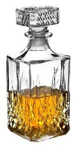 Whiskey Wine Brandy Bourbon Sherry Liqueur Alcohol Decanter Square Glass Bottle