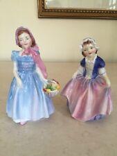 Royal Doulton Figurines Set Of 2! Dinky Do figurine HN1678 & Wendy HN 2109