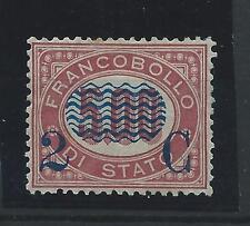 FRANCOBOLLI 1878 REGNO 2 CENTESIMI SU 5,00 LINGUELLATO MLH Z/550