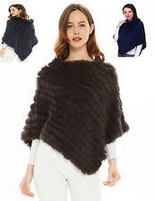 Poncho donna copri spalle mantella sciarpa pelliccia LAPIN TRICò morbido pelo