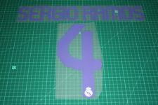 Real Madrid 07/08 #4 SERGIO RAMOS Homekit Nameset Printing