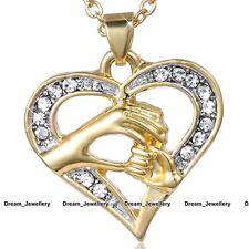 Oro Cristalli Collana A Cuore Madre Figlia Natale per lei Ragazze Mum Donna