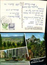 432897,Weißenstadt Totale Kirchplatz Brunnen Waldstein Mehrbildkarte