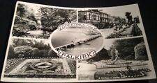 Vintage Falkirk Postcard - B/W multiview 'Greetings from' Posted used