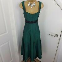 Kaliko Dress Long Strap Mother of The Bride Special Occasion Green Size UK 12