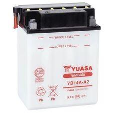 Genuine YUASA YB14A-A2 Battery with Acid Pack