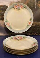 5 Antique Hutschenreuther Selb Bavaria Hand Painted Plates Floral Design
