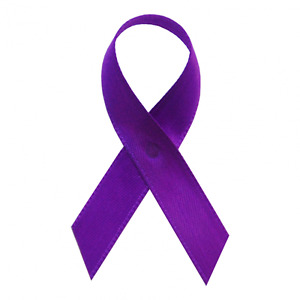 Purple Domestic Violence Awareness Ribbons - 250 Ribbons with Safety Pins