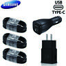 OEM Samsung Galaxy S8 S9+ S10 Note8 Fast Charger Dual Car Wall Plug TypeC Cable