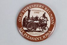 1999 Swap Midwest Old Threshers Reunion Mt Pleasant Iowa Pinback Button Settlers