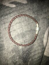 leather pandora bracelet 16cm