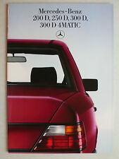 Prospekt Mercedes W 124: 200 D, 250 D, 300 D, 300 D 4Matic, 6.1986, 32 Seiten