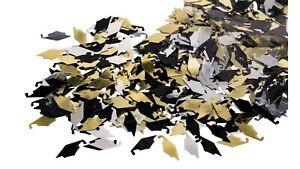 Graduation Caps Black, Gold and Silver Confetti 0.5 oz – 2 bags