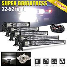 22/32/42/50/52 Inch LED Light Bar Dual Row Combo Beam High Power Truck SUV ORV