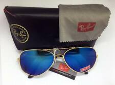 Ray Ban Sunglasses Gold Frame Blue Lens