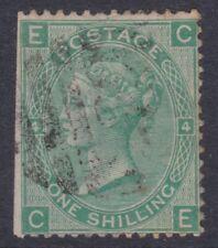 c. 1865 QV GB UK Queen Victoria 1/- Shilling Green Plate 4 Marginal