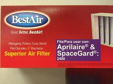 2-PK Aprilaire Space-Gard Air Filter Replacement for 401 Model 2400 By BestAir