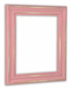 Distressed Baby Pink Picture Frame - Solid Wood