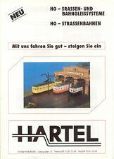 catalogo HARTEL 1995 STRASSENBAHN HO Neuheiten      D             aa