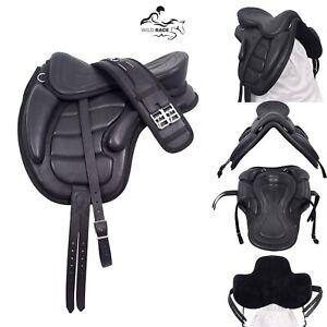 Vielseitiger freemax soft leather sattel / schwarzer und brauner sattel