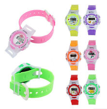 Silicone Children Digital Watch *Different Colours* Battery LCD Wristband Time