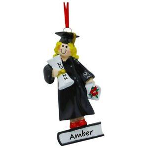 PERSONALIZED Graduation Christmas Ornament Female Girl Dated Graduate Keepsake