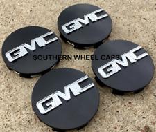 """4x BLACK Center Wheel Center Caps for GMC Sierra Denali Yukon 3.25"""" #9595759"""