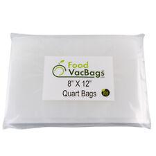 100 Quart 8x12 FoodVacBags Honeycomb Embossed Vacuum Sealer Bags for FoodSaver