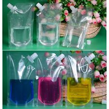 1PC DIY Plastic Flowing Food Cruise Drinks Pocket Flask Fresh Bag Suction