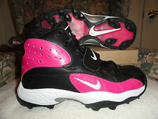 Nike Air Pro Shark Stove Breast Cancer Official NFL Football Cleats 12.5 (New)