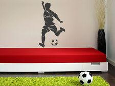 Wandtattoo Kinderzimmer | Fußballer mit Name | Wandtattoo Fußball | Wandsticker