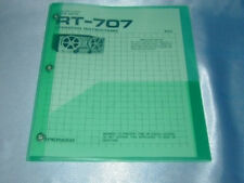 Pioneer Rt-707 Reel To Reel Owner'S Manual Free Same Day Shipping