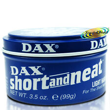 Dax Short & Neat Light Hair Dress Blue Tin Wax For Short Natural Look  99g
