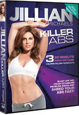 Cardio & Toning EXERCISE DVD - Jillian Michaels KILLER ABS - 3 Workouts!