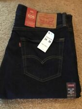 NEW WITH TAGS LEVI'S 505 DARK REGULAR FIT RED TAB 34 X 30 (MEASURES 34 X 29)