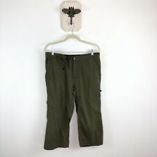 Prana Olive Green Cropped Pants     Womens Large