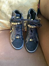 NWOB Michael Kors Womens Glam Black Suede High Top Sneakers Size 8M AQ13E