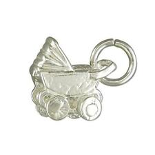 Sterling Silver New Baby Traditional Pram Charm