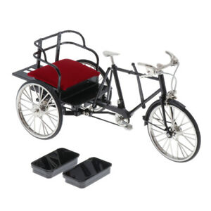 1:6 Scale Alloy Tricycle Model Racing Bike Toy Tabletop Home Decoration