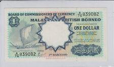 Malaya & British Borneo $1 Original TDLR A/76 839082 AU/UNC