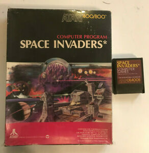 SPACE INVADERS Cartridge Atari New Large Black Box 800/XL/XE CXL4008 1981