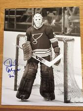 St. Louis Blues Phil Myre signed 8x10 W/COA pose 15