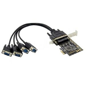 PCI Express PCI-E 4 Port Serial RS-232 COM DB9 Card Adapter Converter