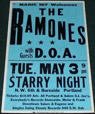 RAMONES D.O.A. 1983 ORIGINAL SIGNED CONCERT POSTER PORTLAND OREGON
