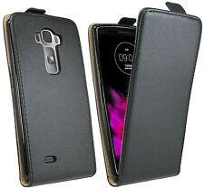 LG G Flex 2 // Zubehörset Zubehör Tasche Hülle Schale Etui Flip Cover in Schwarz