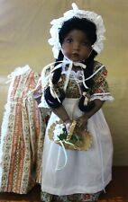 """Emily by Dianna Effner OOAK Black Doll 18"""" Bisque Head Composition body"""