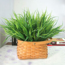 Artificial Fake Plastic Plant Flowers Office Home Art Green Simulation Grass New