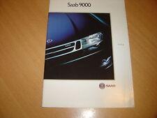 CATALOGUE Saab 9000 de 1992 Belgique